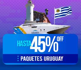 Hasta 45% OFF en Paquetes a Uruguay